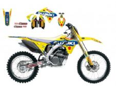 New Suzuki RMZ 250 10-18 World MX GP Graphics Sticker Kit Blackbird 2319R6